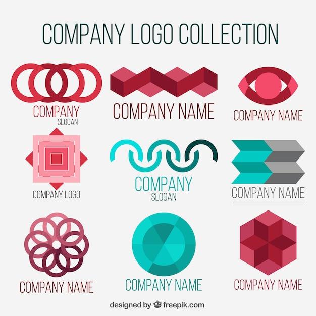 Fantastic company logos with geometric shapes vector free download fantastic company logos with geometric shapes free vector voltagebd Gallery