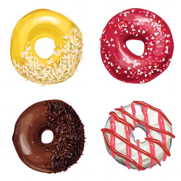 Fantastic donuts 無料ベクター