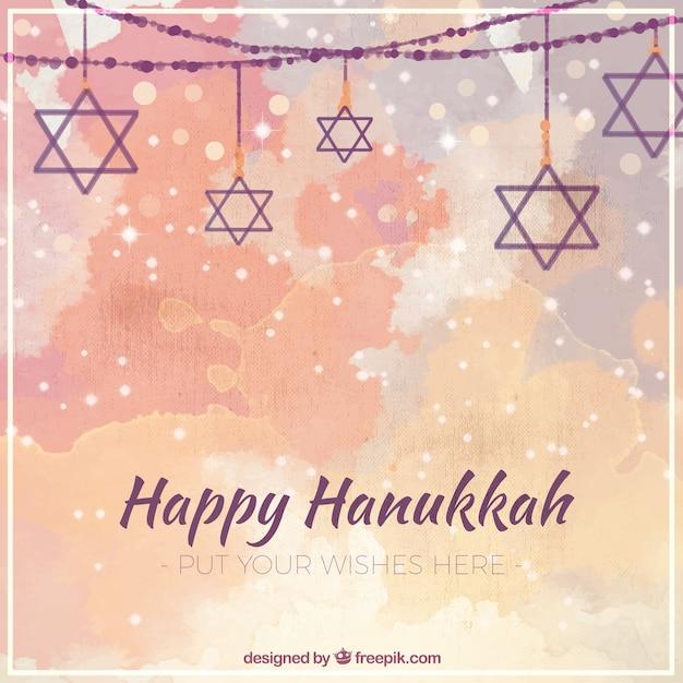 Fantastic hanukkah background in watercolor\ style