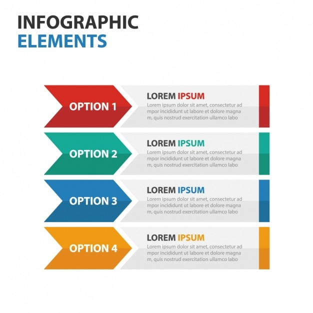 Infographic Ideas infographic colors : Fantastic infographic with four options in different colors Vector ...