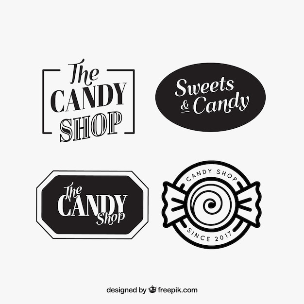 Fantastic logos for candy shops