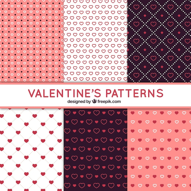 Fantastic Patterns With Different Types Of Hearts For