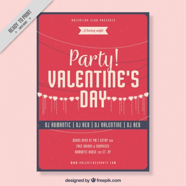 Valentine Template With Flat Design Vector Picker