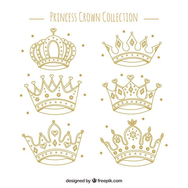 fantastic selection of princess crowns vector free download