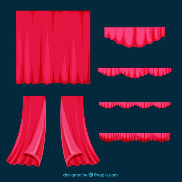 download vector several flat theater curtains vectorpicker