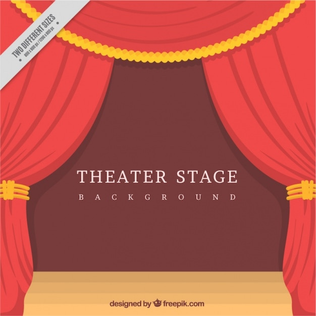 Fantastic theater stage with decorative curtains in flat design fantastic theater stage with decorative curtains in flat design free vector junglespirit Gallery