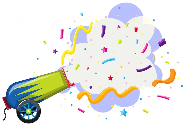 A fantasy cannon on white background Free Vector