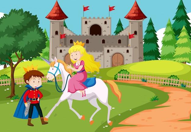 Fantasy fairy tale scene Free Vector