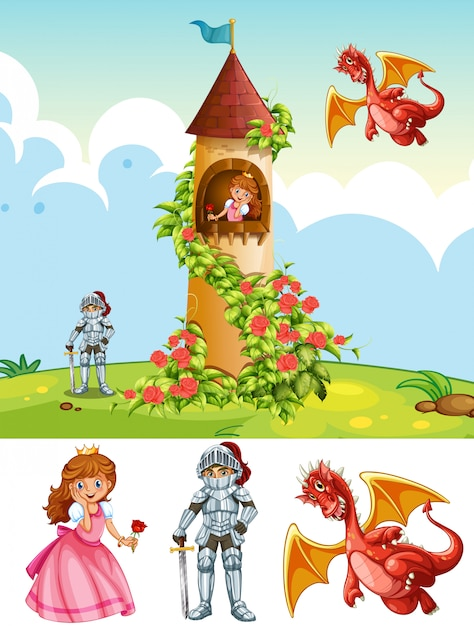 A fantasy land element Free Vector