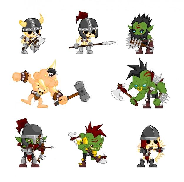 Fantasy monster character illustration Premium Vector