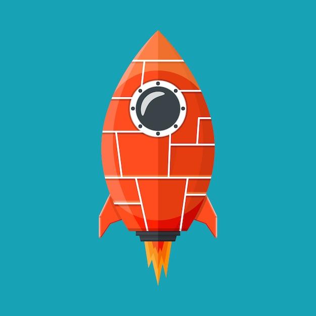 Fantasy rocket Premium Vector