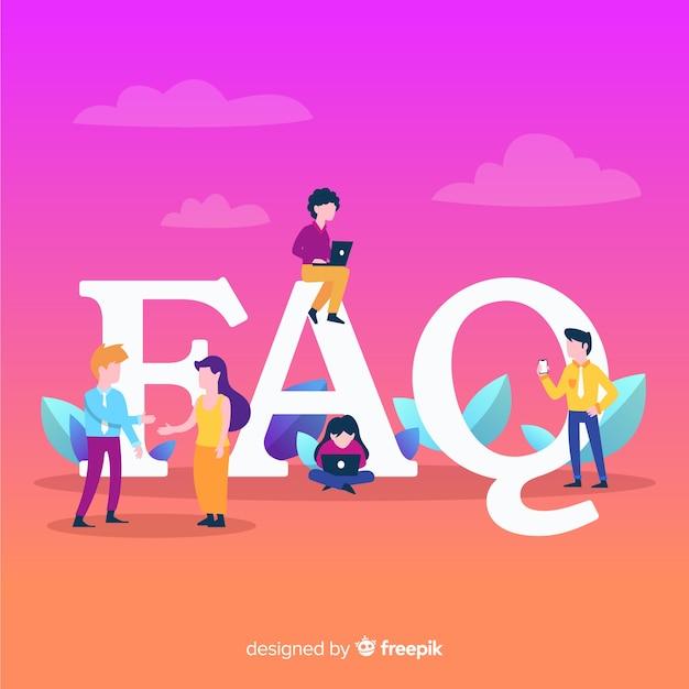 Faq concept background Free Vector