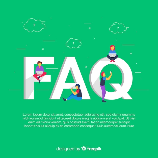 Faq concept flat background Free Vector