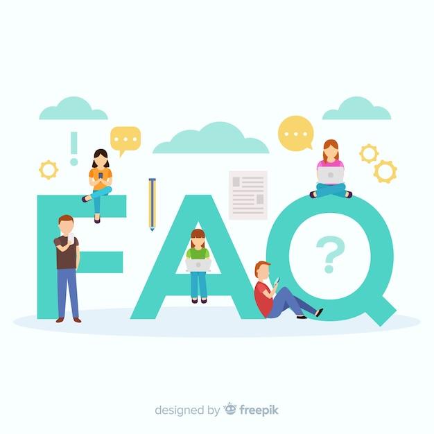 Faq concept Бесплатные векторы