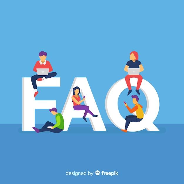 Faq concept Free Vector