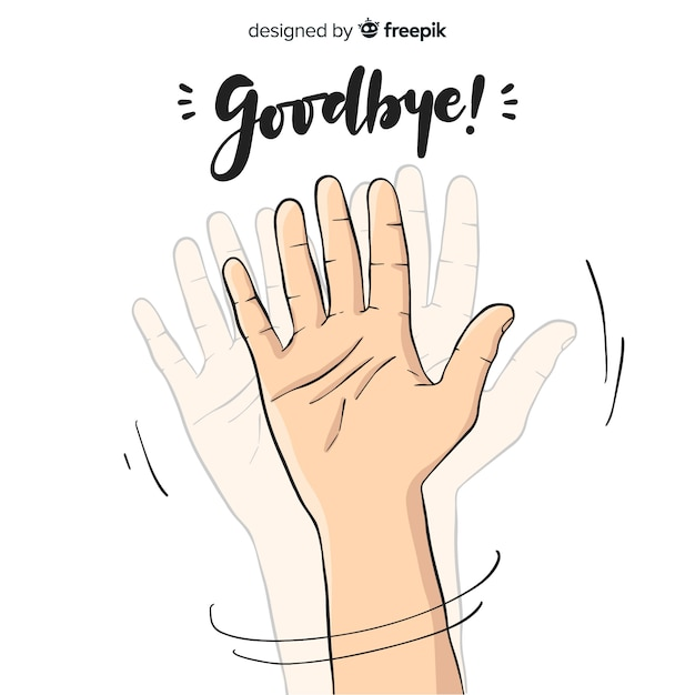 Farewell background Free Vector
