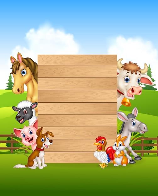 Farm animal collection set Premium Vector