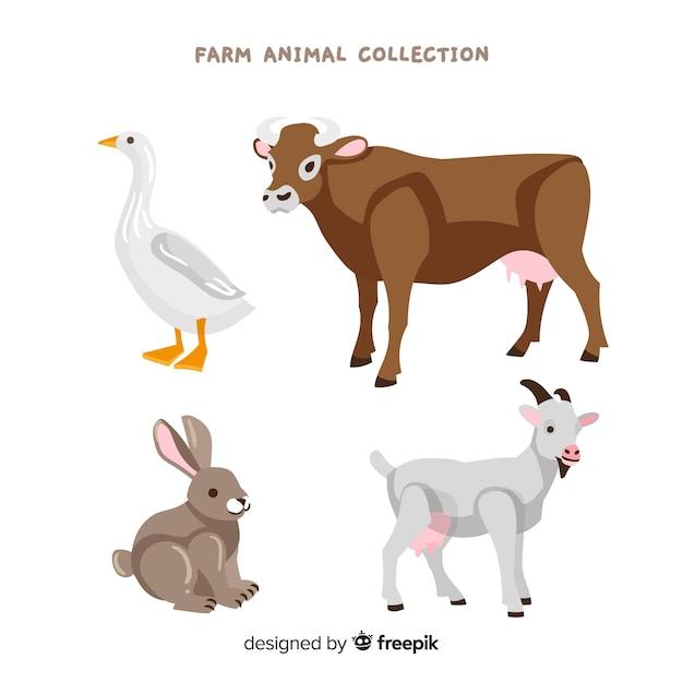 Farm animal collection Free Vector