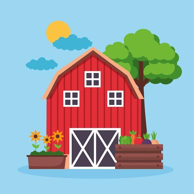 Farm fresh cartoon Free Vector
