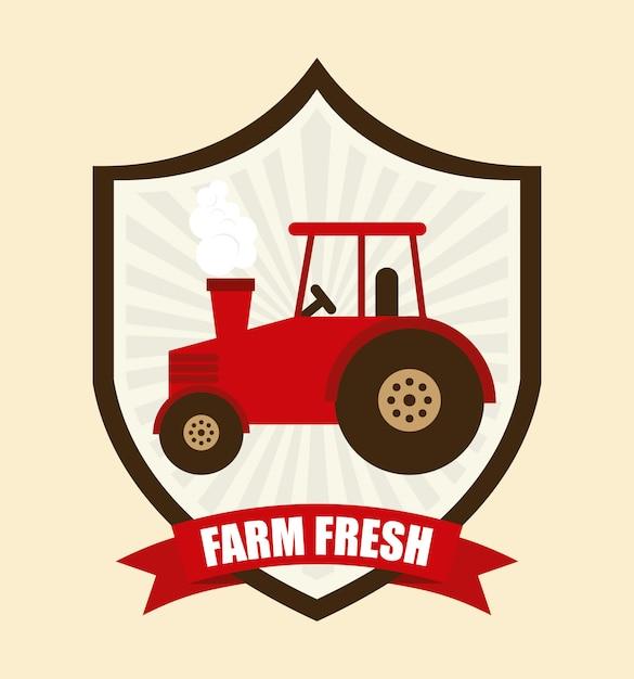 Farm fresh graphic design Free Vector