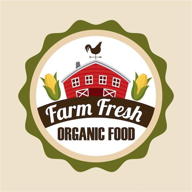 Farm fresh label Free Vector