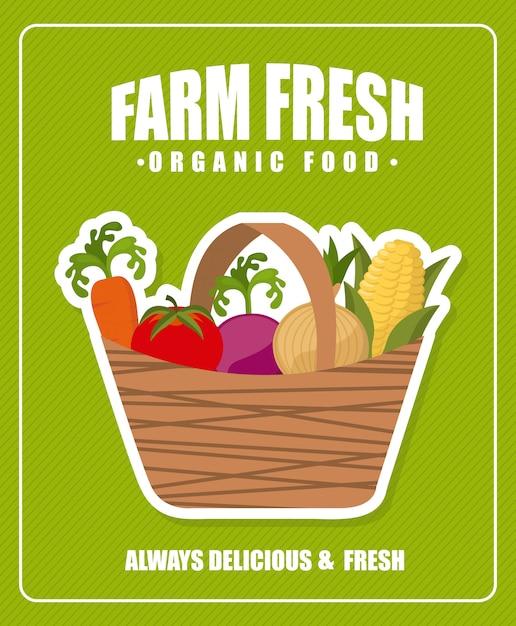 Farm fresh poster Free Vector
