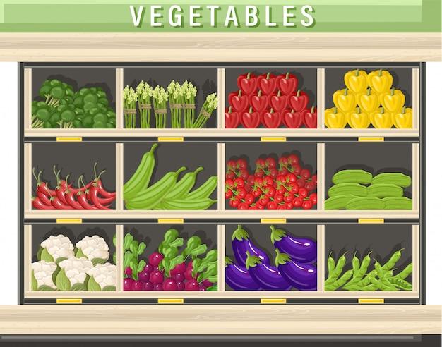 Farm fresh vegetable illustration Premium Vector