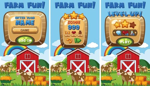 A farm game concept Premium Vector