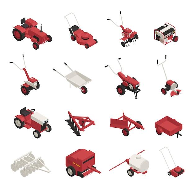 農園機械セット 無料ベクター