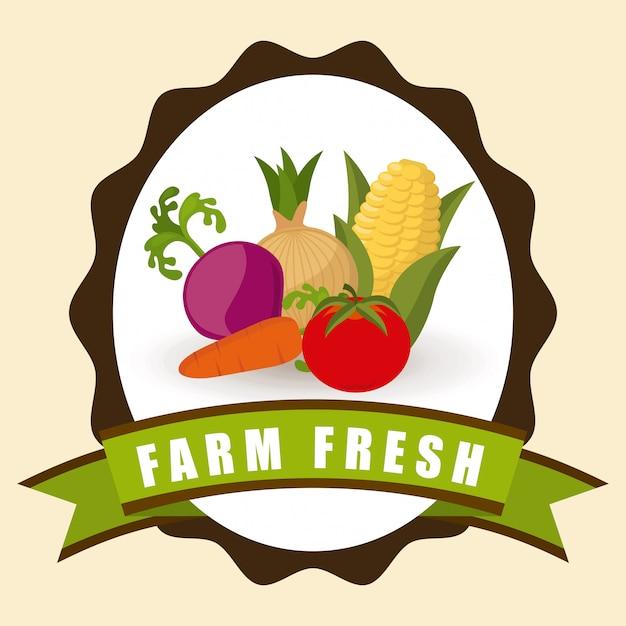 Farm graphic design Free Vector