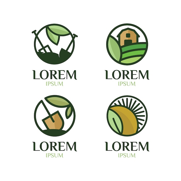 Farm logo collection Vector | Free Download