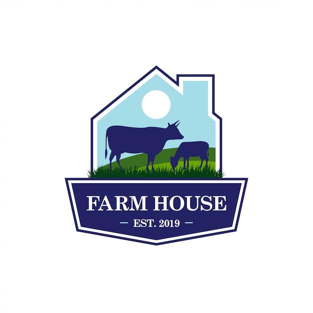 Farm logo template Premium Vector