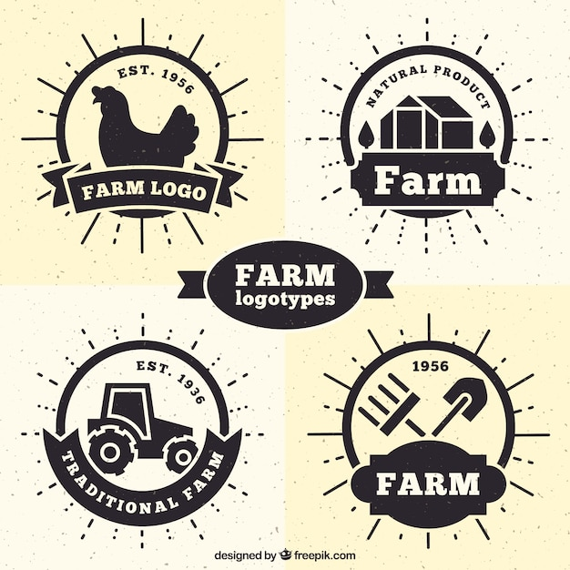 farm logos collection vector free download