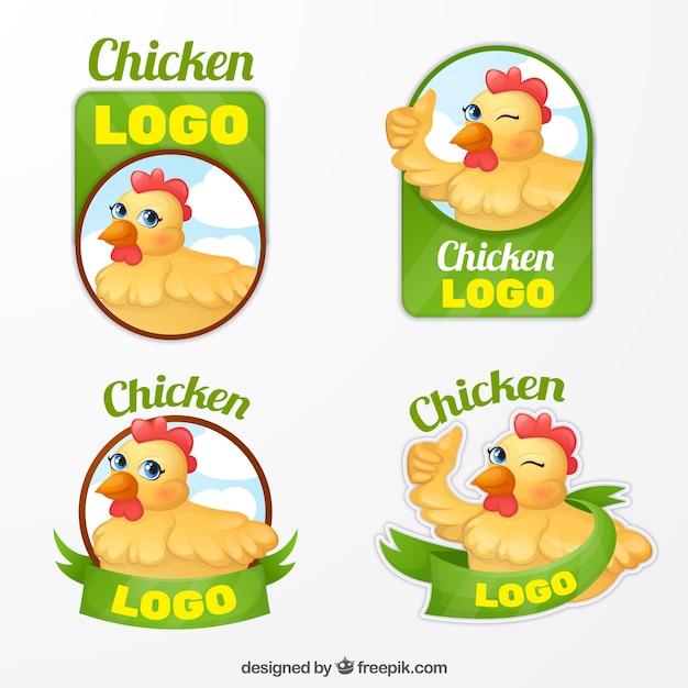 Набор логотипов для фермеров Бесплатные векторы