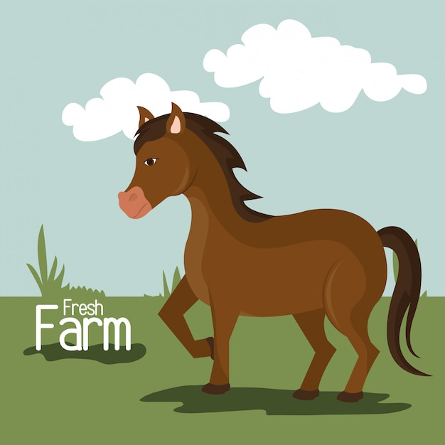Farm nature and lifestyle Free Vector
