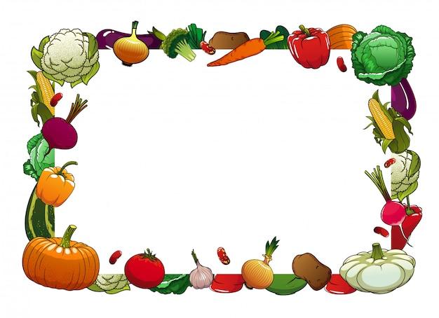 ファーム完熟野菜フレーム Premiumベクター