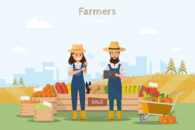 Farm shop Premium Vector