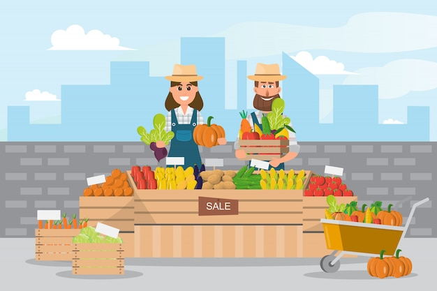 Farm shop Premium Vector