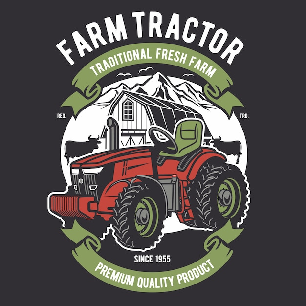 Farm tractor Premium Vector