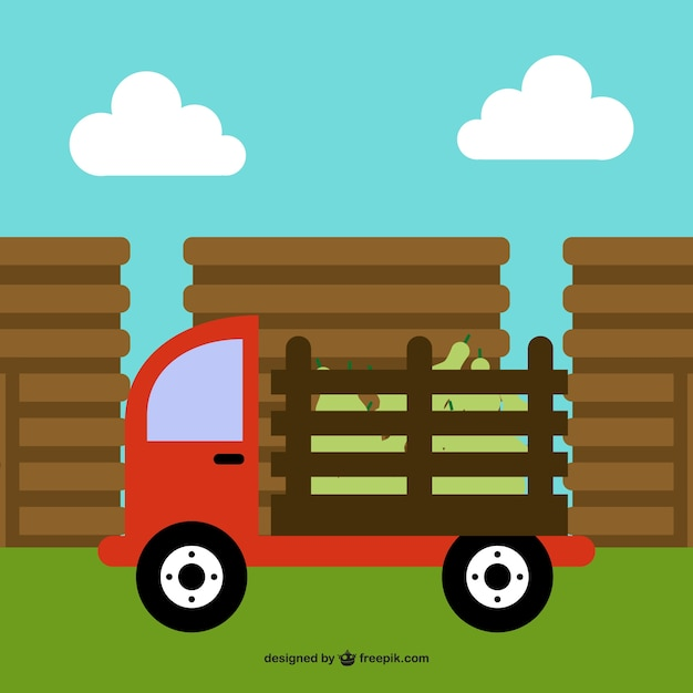 Farm truck cartoon