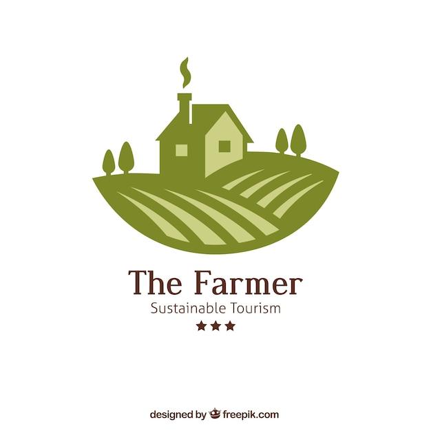 The farmer logo Free Vector