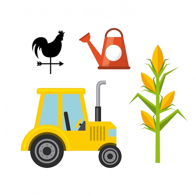 Farming icons design Premium Vector