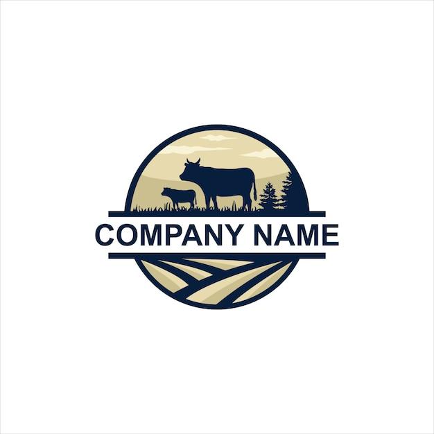 Farms logo vector Premium Vector