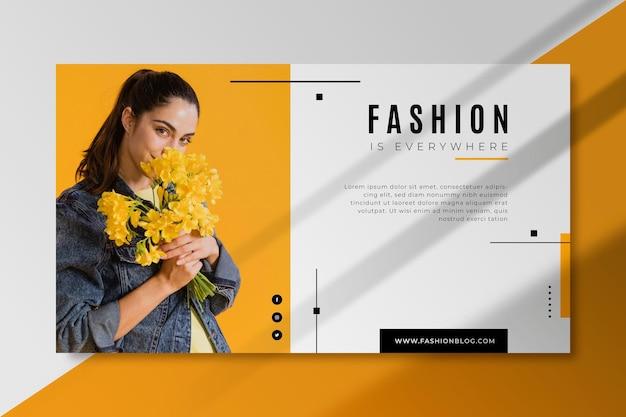 Шаблон блога модный баннер Бесплатные векторы