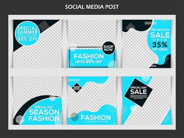 Fashion banner for social media Premium Vector