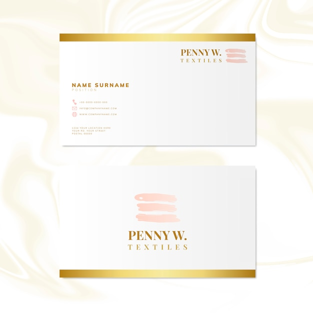 Fashion and beauty name card design vector Free Vector