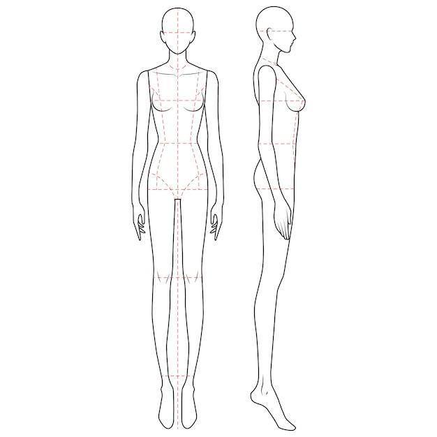 Premium Vector Fashion Body Figure Template