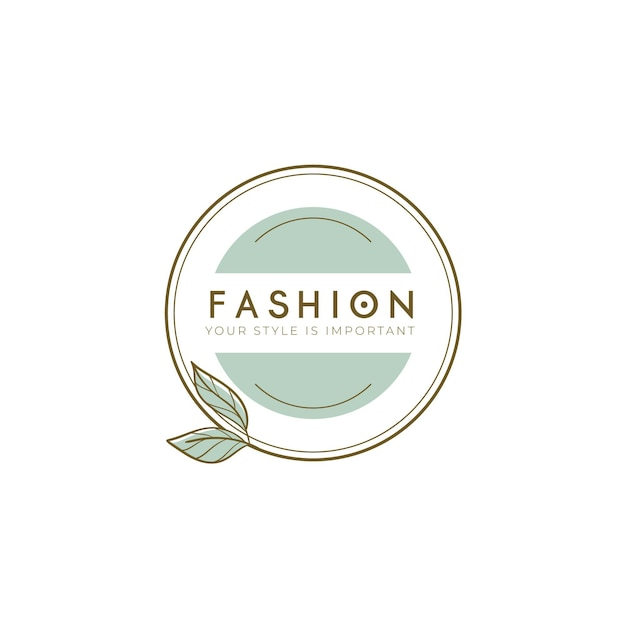 Fashion brand logo template Free Vector