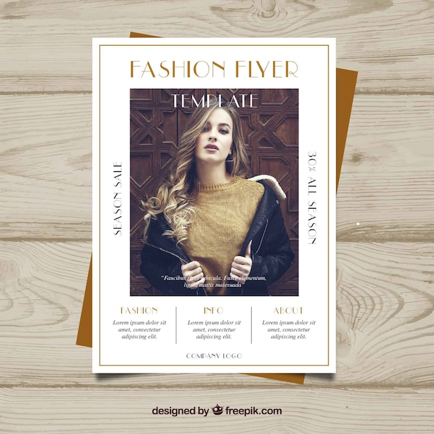 fashion brochure template vector free download