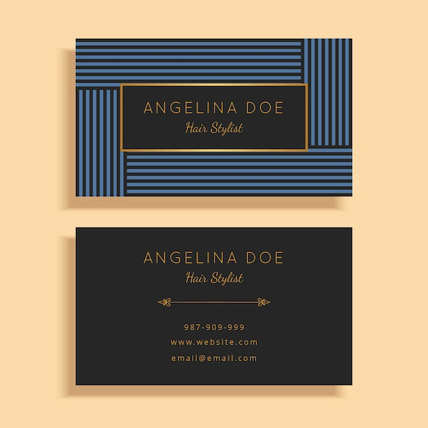 Fashion Business Card Template Vector Premium Download